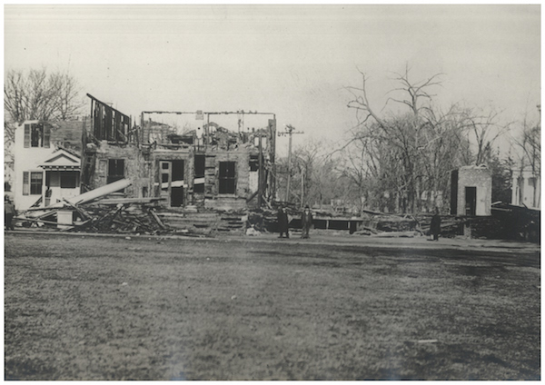 Milford town hall fire 1915