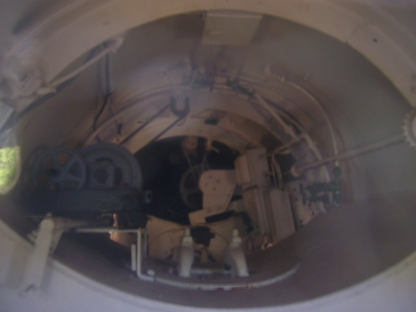 inside of Simon Lake submarine